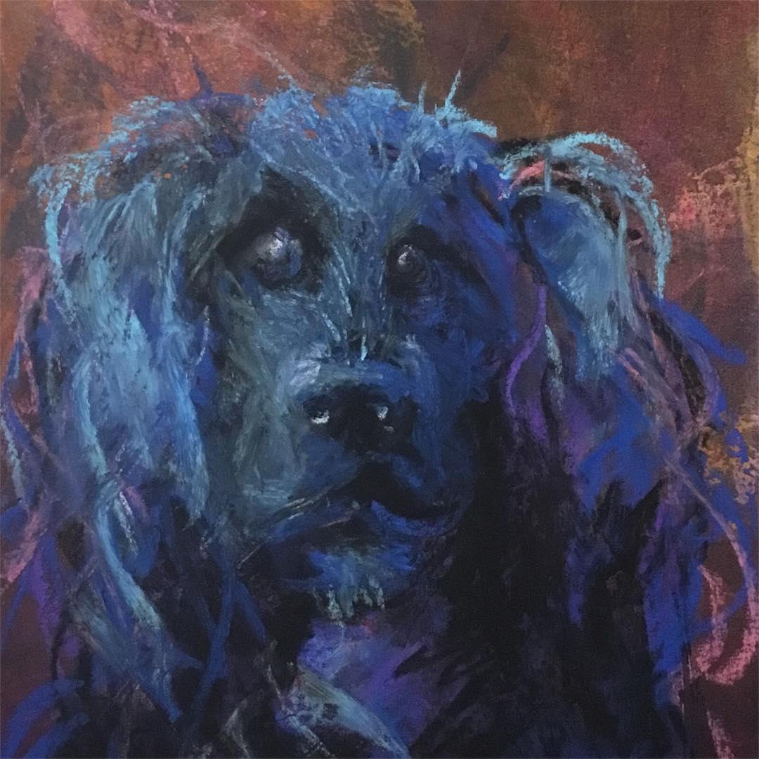 <p>Blue Molly is a portrait of my rescue dog Molly. We aren&#8217;t sure exactly what breed she is, but it looks like she may be part Carolina Water Dog. She has a &#8220;soft mouth&#8221; meaning she prefers to play with things that are not hard like rope toys. Most retrievers [&hellip;]</p>